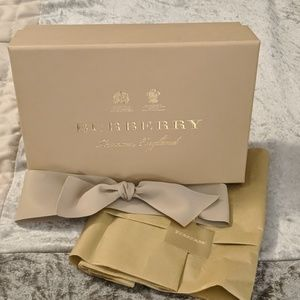 Burberry Authentic Box, Ribbon & Tissue Paper